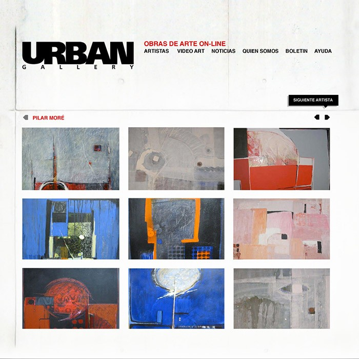 URBANGALLERY &#8211; ONLINE SHOP <br><h7>&#8211; web design &#8211;</h7>