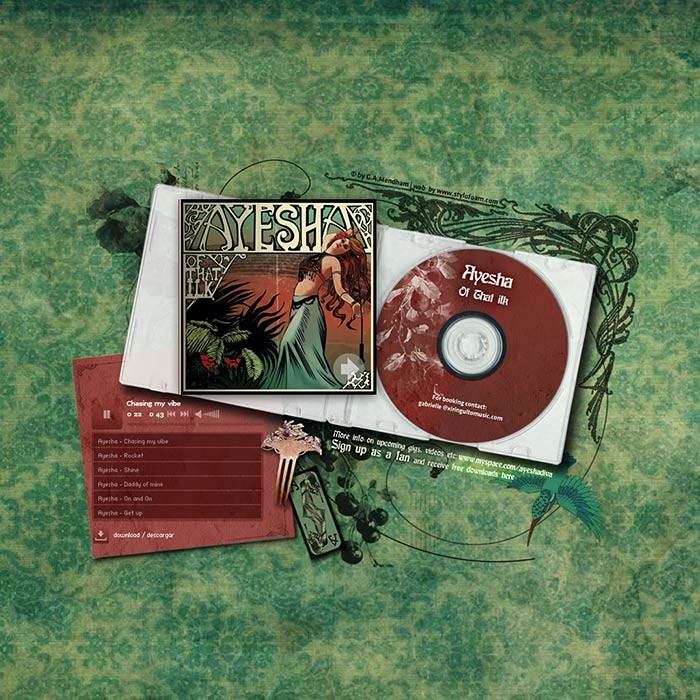 AYESHA – CD PRESENTATION <br><h7>– web design –</h7>