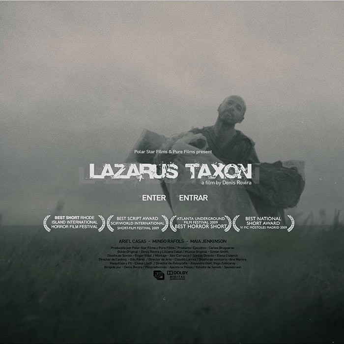 LAZARUS  TAXON – SHORT FILM<br><h7>– webdesign – </h7></br>