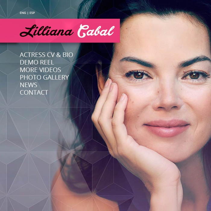 LILLIANA CABAL – ACTRESS<br><h7>– logo, identity & web design –</h7>